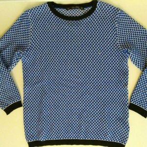 ZARA Knit Sweater Cobalt Womens Small